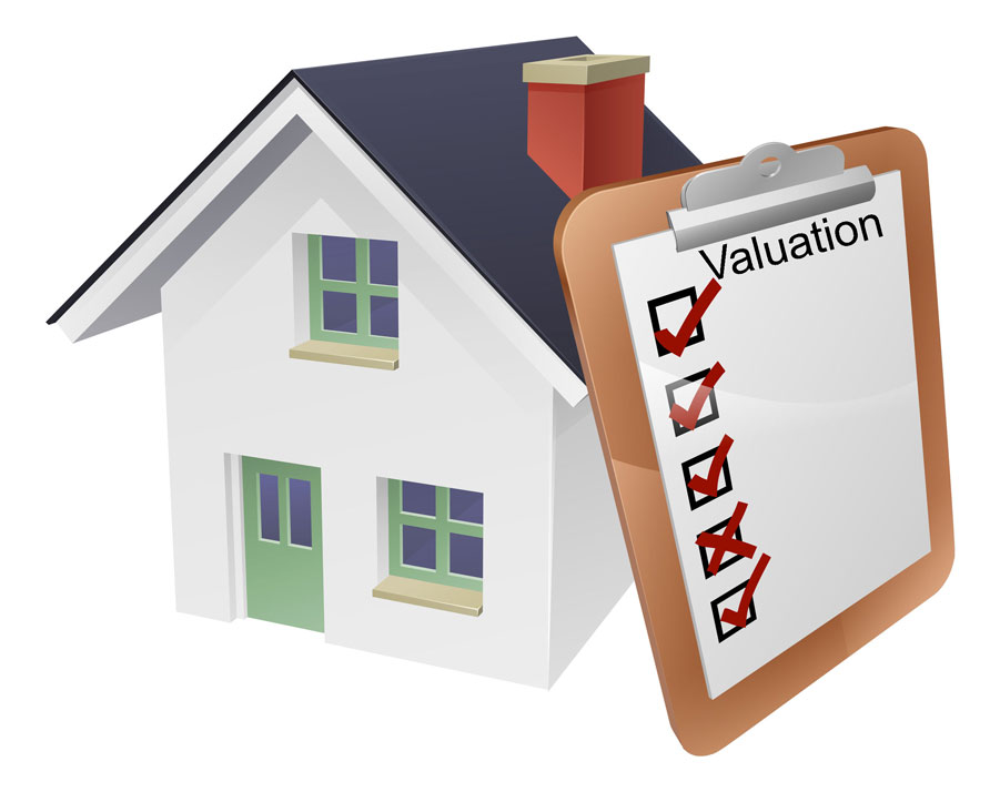 House with Clip Board Concept for Appraiser Valuation